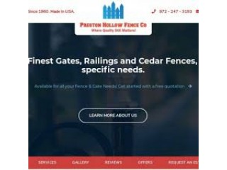 Best Fence Company Dallas, Texas