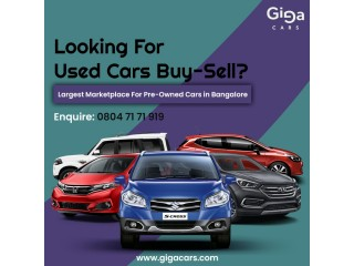 Used Cars in Bangalore - Second Hand Cars for Sale | GigaCars