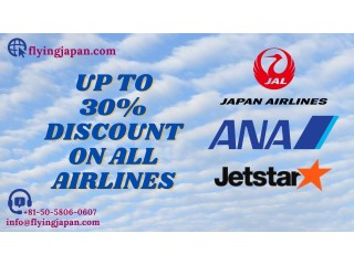 Book your air tickets with flying japan and get up to 30% off. call now |+050-5806-0607.